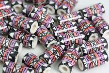 Tubo geométrica Pelo Esmaltado Beads Perlas o cuentas artesanías V02cb X 10