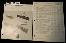 Allied Blades - 1978 Two-Page Brochure plus 4-page Price List also from Allied