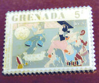 Disney Princess SNOW WHITE SEVEN DWARFS Grenada 5¢ Stamp PIN Dopey Dancing 1980