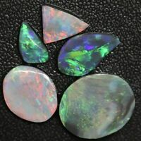 32.15 cts Australian Black Opal Rough Lightning Ridge Parcel Rubs