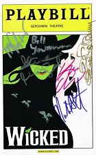 Wicked Original Broadway Cast SIGNED Playbill Idina Menzel Kristin Chenoweth COA