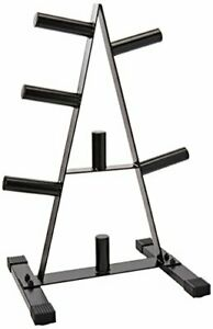Rubber Coated Olympic Weight Plate Rack w/ 7 Posts