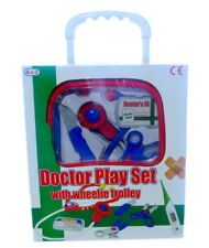 A to Z 37619 Doctor Play Set with Wheelie Trolley in blue/red