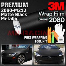 Genuine 3m 2080 Series M212 Matte Black Metallic Vinyl Wrap Vehicle Film Decal