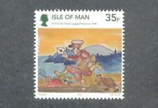 Isle of Man-Three Legged Postman-Cartoons-Animation-Art single mnh