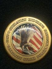 Operation Enduring Freedom ANTI Terrorist Strike Force JFK Quote Challenge Coin