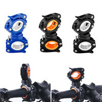 360° Cycle Bicycle Light Lamp Torch LED Flashlight Mount Bracket Holder Clip FO