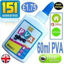 General Purpose PVA Adhesive Glue paper cardboard wood fabric craft 60ml UK