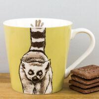 New Churchill Couture Animal Kingdom Lemur Green Fine China Gift Mug 325ml Cup