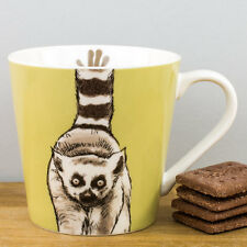 New Churchill China Couture Animal Kingdom Lemur Personalised Gift Green Mug
