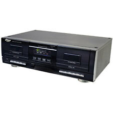 Pyle PT659DU Dual Stereo Cassette Deck w/Tape