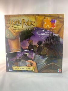 Harry Potter and The Sorcerers Stone 260 Pc Family Puzzle w Magic Decoder Mattel