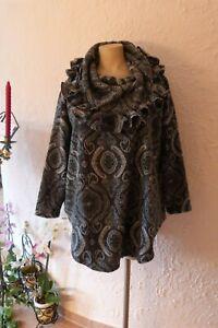 BORIS INDUSTRIES Sweat Shirt Fleece Volantkragen 44-54 NEU! Paisley LAGENLOOK