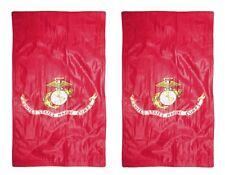 12x18 Usmc Marine Corps Double Sided 2ply Nylon Sleeve Flag Garden
