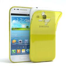 Ultra Slim Cover für Galaxy S3 Mini Case Silikon Hülle Transparent Gelb
