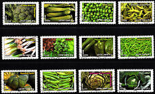 France 2012 Vegetables for a Green Letter Complete Set of Stamps P Used S/A