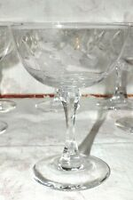 LENOX BROOKDALE polished gray cut flowers CHAMPAGNE GLASS (s)   all EXC
