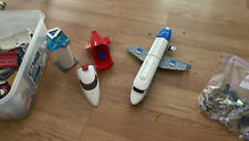 aircraft Lego 3181 Passenger Plane used airport jet airliner & Tower - Other Pcs