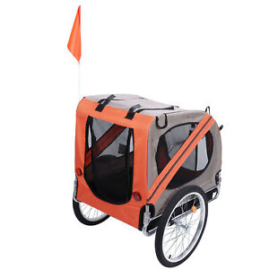 High Quality Dog Puppy Bike Bicycle Collapsible Trailer Cats Dog Stroller NEW
