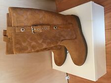 Coach Tullip Women Tan Winter Boot