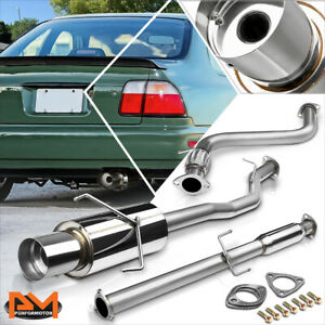 """For 94-97 Honda Accord 2.2L 4.5""""Tip Muffler Stainless Steel Catback Exhaust Pipe"""