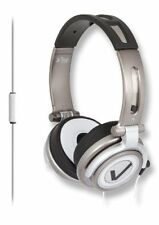 New iFrogz Vertex Headphones with Microphone Iron Black Silver EP-VX-MIC-GMT