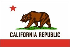Aufkleber / Autoaufkleber 76mmx127mm California CA State Flag Fahne Flagge 5072