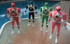 1995 Mighty Morphin Power Rangers Flip Head Bandai Lot of 4