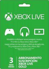 Xbox Live Gold 3 mesi abbonamento codice Microsoft Xbox One Xbox 360 Chiave IT