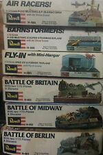 1/72 All 6 Revell Battle & Air Show Dioramas, Un-Started, 12 Aircraft Models