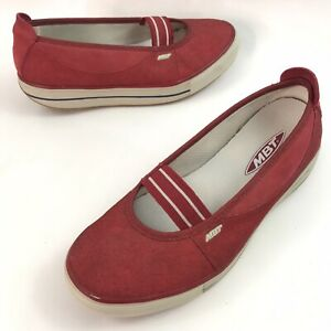 GUC MBT Canvas Mary Jane Flats SIZE 6-6.5 US Women's Red Rocker Style 400357