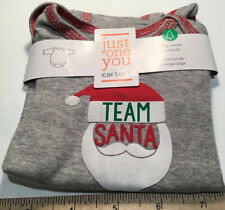 Nb 3M 12M Just One You Carter's Christmas Team Santa Long Sleeve body suit