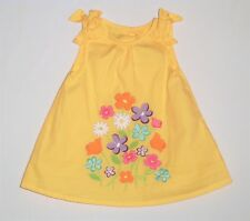 "Gymboree ""Butterfly Blossoms"" Bright Floral Yellow A-Line Sun Dress, 3-6 mos."