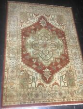 Well Done 7' x 5' Hand Knotted/ Hand Dyed Wool Heriz Carpet
