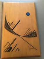 Galleria Martano Torino1975 Luigi Veronesi serigrafia su legno di obece ex 30/90