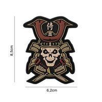 3D PVC morale patch Samurai Skull Warrior airsoft hoop and loop