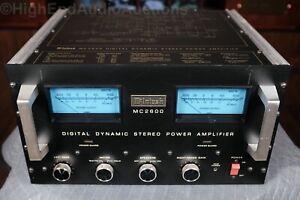 McIntosh MC2600 Stereo Power Amplifier - 600 Watts/CH - Vintage Classic #1