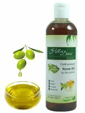 HillDews Neem Oil (200 ml) - Natural & Cold Pressed - For Skin & Hair-Free Ship