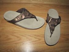 Fit-Flop 'Fiorella' Metallic Bronze Thong Sandals - 11M European 43 EUC