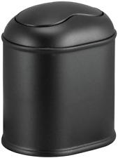 Modern Plastic Mini Wastebasket Trash Can Dispenser with Swing Lid for Bathroom