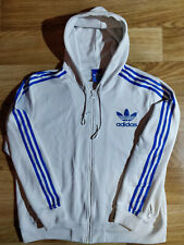 Adidas Originals Mens Hoodie Tracksuit Top Jacket Hooded Blue Off White Hype