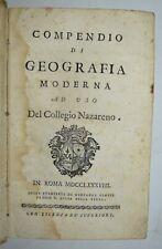 GEOGRAFIA - ediz. 1788 - Europa - Africa - Asia - America