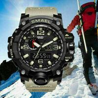 SMAEL Mens Camo Sport Army Military Alarm Analog Digital Quartz Wrist Watch USA
