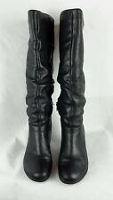 Phase Eight black leather knee high boots Size 38 5, please read description