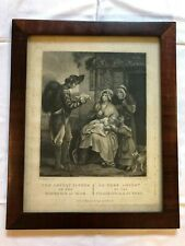 Bilderrahmen alt Biedermeier Mahagoni Holz Lithographie Belgien um 1820