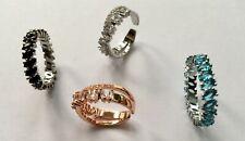 New Rhinestone  Baguette  Sparkling Luxury  Ring