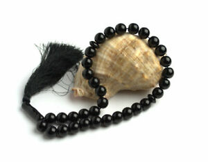 Black onyx pocket style mala Gemstone Worry Beads 27 or 33 Buddhist prayer beads
