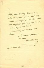 French Author DESIRE NISARD Autograph Letter Signed