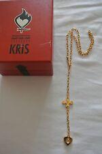 Collana KRIS color RAME con ACQUA MARINA