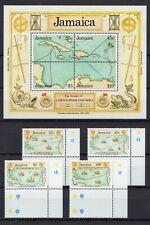 Columbus, MiNr.:752-755 + Block 31, unmounted mint / never hinged, 1990, Jamaica